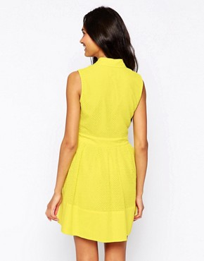 photo Shirt Dress by Jovonna, color Yellow - Image 2