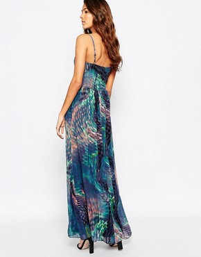 photo Printed Maxi Dress with Waist Detail by Laced In Love, color Multi - Image 2