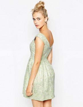 photo Jacquard Dress by Lashes of London, color Mint - Image 2