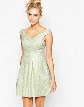 photo Jacquard Dress by Lashes of London, color Mint - Image 1