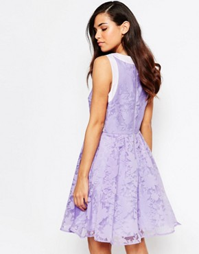 photo Lila Organza Prom Dress by Lashes of London, color Purple - Image 2