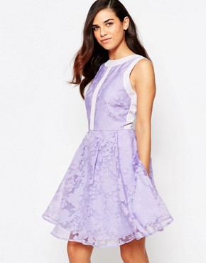 photo Lila Organza Prom Dress by Lashes of London, color Purple - Image 1