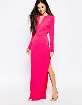 photo Maxi Dress with Necklace Detail by Lashes of London, color Pink - Image 1