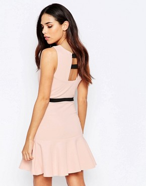 photo Pephem Dress with Cut Out Front by Lashes of London, color Pink - Image 2