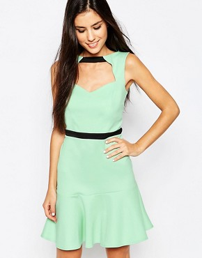 photo Pephem Dress with Cut Out Front by Lashes of London, color Mint - Image 1