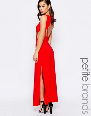 photo Maxi Dress with Open Back by Lipstick Boutique Petite, color Red - Image 1
