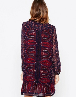 photo Dark Paisley Print Shift Dress by Maison Scotch, color Multi - Image 2