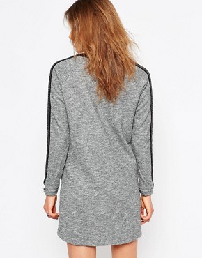 photo Roll Sleeve Sweater Dress by Maison Scotch, color Grey - Image 2