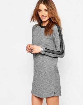 photo Roll Sleeve Sweater Dress by Maison Scotch, color Grey - Image 1