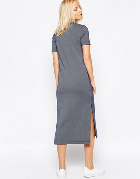 photo Striped Midi Dress by Native Youth, color Navy - Image 2