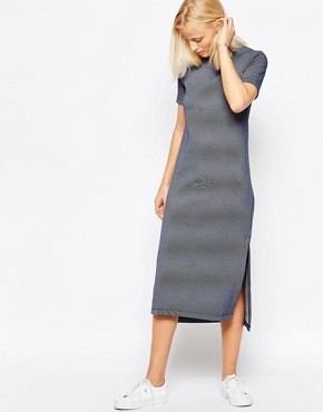 photo Striped Midi Dress by Native Youth, color Navy - Image 1