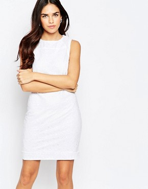 photo Rozalia Dress In Broderie Anglais by Poppy Lux, color White - Image 1