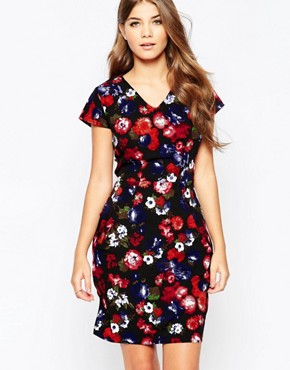 photo Tarsha Shift Dress In Floral Print by Poppy Lux, color Black Multi - Image 1
