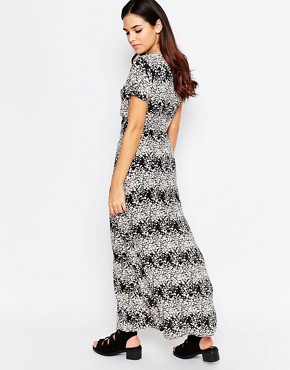 photo Vanessa Maxi Dress In Floral Print by Poppy Lux, color Black Multi - Image 2