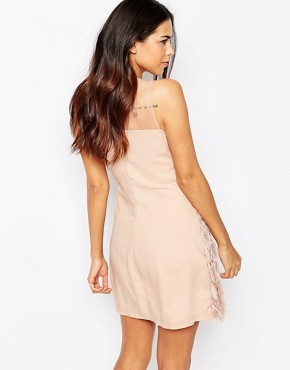 photo Fringed Shift Dress by Rare, color Blush Pink - Image 2
