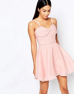 photo Prom Dress with Plaited Bust Detail by Rare Opulence, color Pink - Image 1