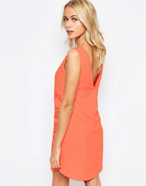 photo Beaded and Embroidered Shift Dress by See U Soon, color Orange - Image 2