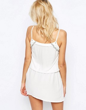 photo Lace Up Dress with Embellished Trim Detail by See U Soon, color Off White - Image 2
