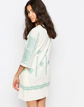 photo Tunic Dress with Cross Stitch Embroidery by See U Soon, color Green - Image 2