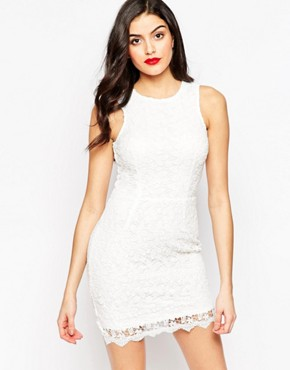 photo Amber Crochet Mini Dress by Sistaglam, color White - Image 1