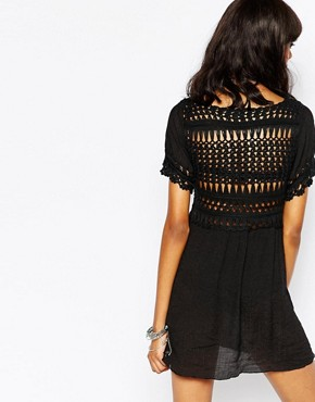 photo Stitch & Pieces Crochet Top Dress, color Black - Image 2