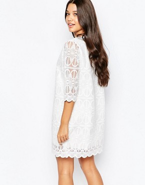 photo Patterned Dress by Style London, color White - Image 2