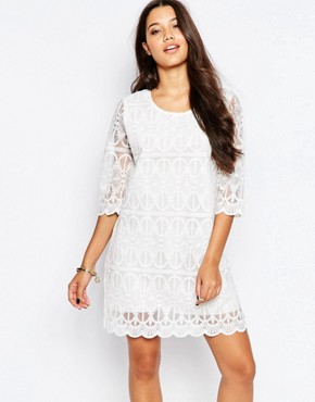 photo Patterned Dress by Style London, color White - Image 1