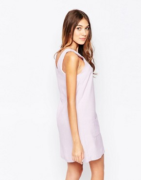 photo Shift Dress with Pocket Detail by Style London, color Violet - Image 2