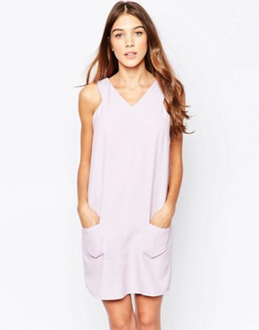 photo Shift Dress with Pocket Detail by Style London, color Violet - Image 1