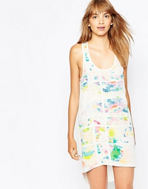 photo Pop Floral Print Silk Singlet Dress by Suboo, color Print - Image 1