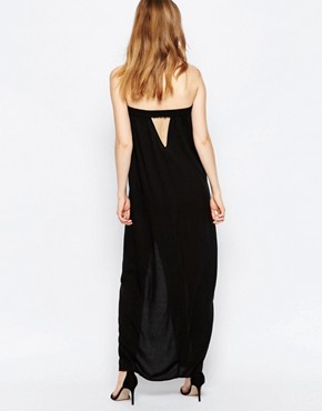 photo Strapless Black Maxi Dress by Suboo, color Black - Image 2
