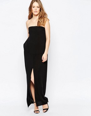 photo Strapless Black Maxi Dress by Suboo, color Black - Image 1
