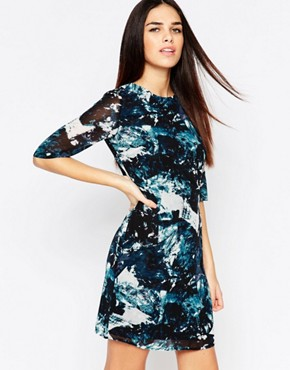 photo Amelia Dress In Icey Print by Sugarhill Boutique, color Teal - Image 1