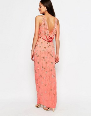 photo Cookie Maxi Dress with Split by Virgos Lounge, color Peach - Image 2