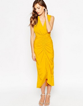 photo Morden Maxi Dress by VLabel London, color Yellow - Image 1