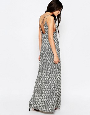 photo Stay with Me Maxi Dress with Strap Detail by WYLDR, color Black - Image 2
