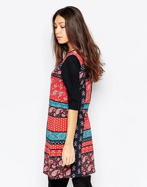 photo Bandana Print Swing Dress by Your Eyes Lie, color Multi - Image 2