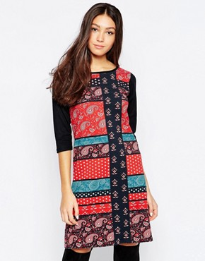 photo Bandana Print Swing Dress by Your Eyes Lie, color Multi - Image 1