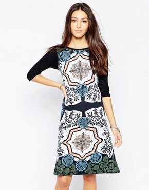 photo Treasure Box Swing Dress by Your Eyes Lie, color Multi - Image 1