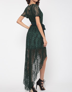 Fashion mia green lace dress
