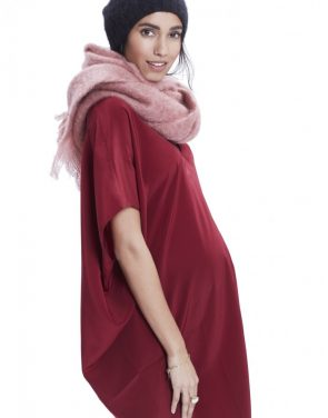 photo The Slouch Dress by Hatch Collection, color Red Cabernet - Image 2
