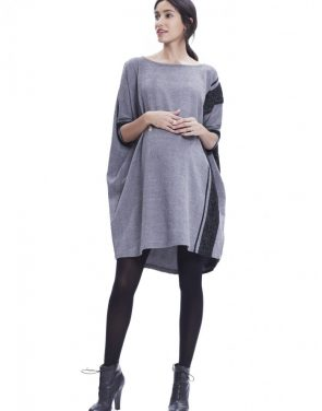 photo The Narelle Dress by Hatch Collection, color Slate Black Boucle - Image 1