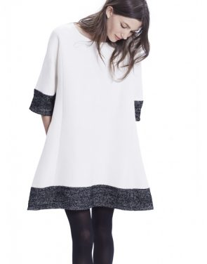photo The Daniella Dress by Hatch Collection, color Ivory Black Boucle - Image 2