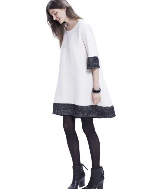 photo The Daniella Dress by Hatch Collection, color Ivory Black Boucle - Image 1