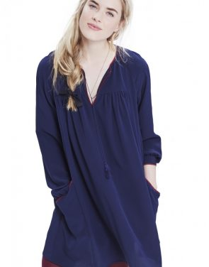 photo The Gemma Dress by Hatch Collection, color Navy - Image 2