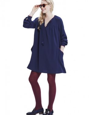 photo The Gemma Dress by Hatch Collection, color Navy - Image 1