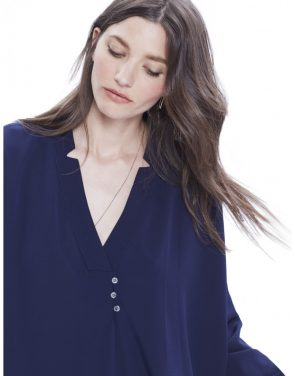 photo The Yves Tunic Dress by Hatch Collection, color Navy - Image 2