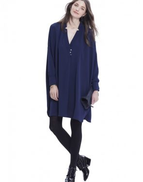 photo The Yves Tunic Dress by Hatch Collection, color Navy - Image 1