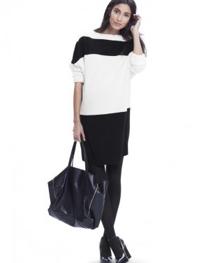 photo The Agyness Dress by Hatch Collection, color White-Black Stripe - Image 1