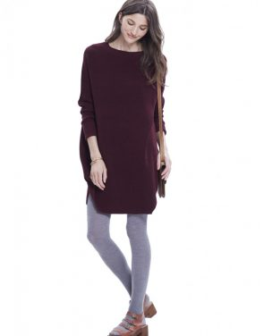 photo The Waffle Crew Dress by Hatch Collection, color Red Wine - Image 2